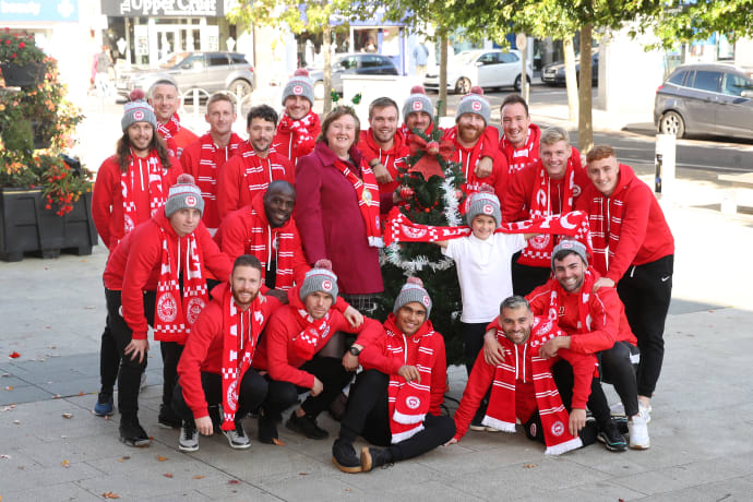 Larne Football Club Kicks off Christmas at the Larne Christmas Switch-On